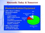 bluetooth today tomorrow