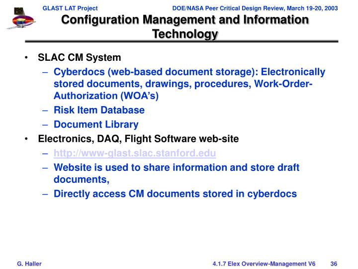 Configuration Management and Information Technology