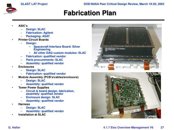 Fabrication Plan