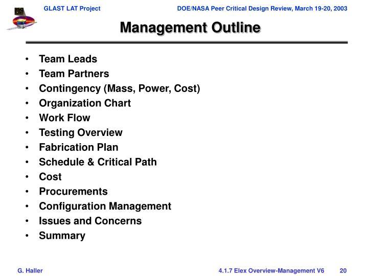 Management Outline