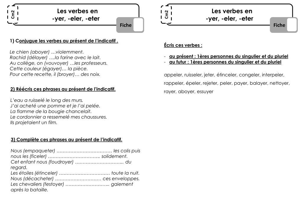 Ppt Les Verbes En Yer Eler Eter Powerpoint Presentation Free Download Id 3672737