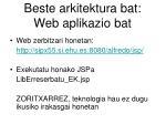 beste arkitektura bat web aplikazio bat1