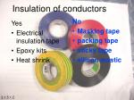 insulation of conductors