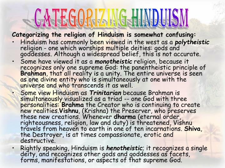 Categorizing Hinduism