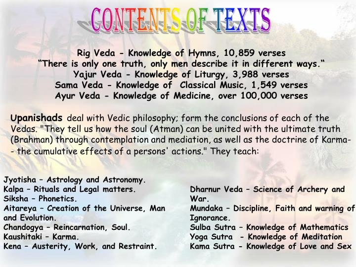 Rig Veda - Knowledge of Hymns, 10,859 verses