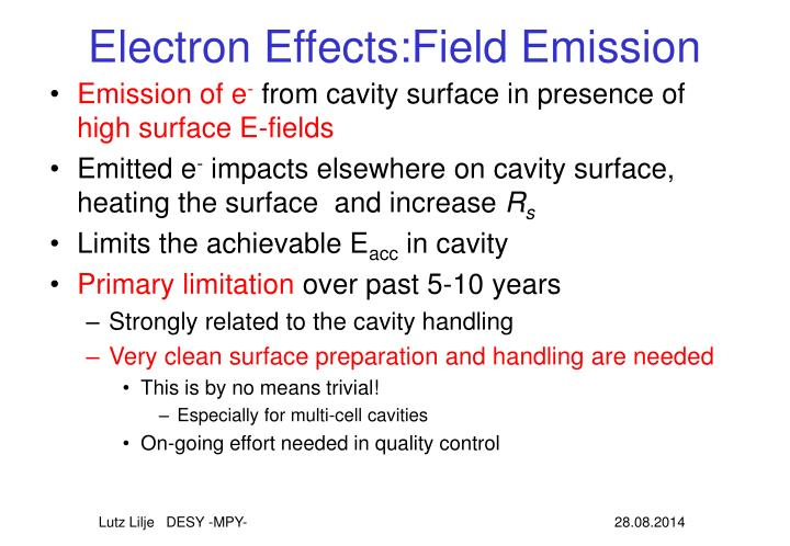Electron Effects:Field Emission