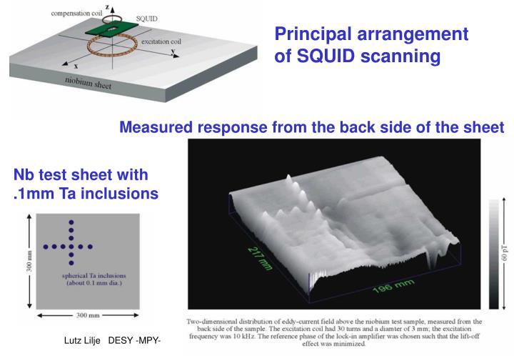 Principal arrangement of SQUID scanning