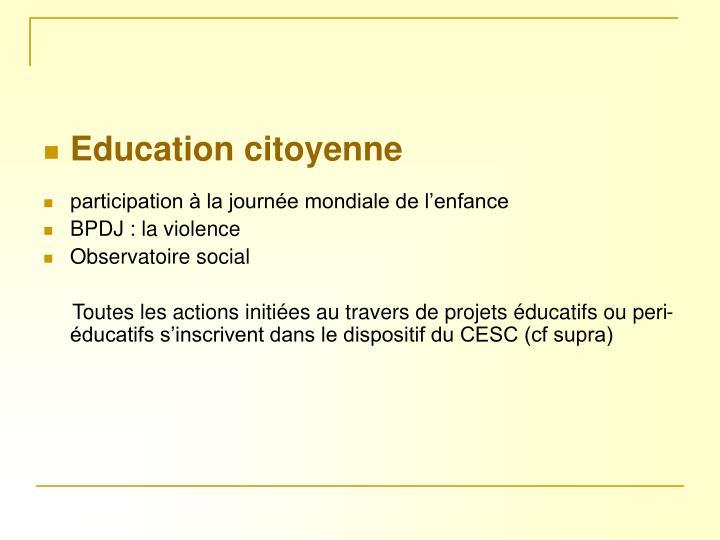 Education citoyenne