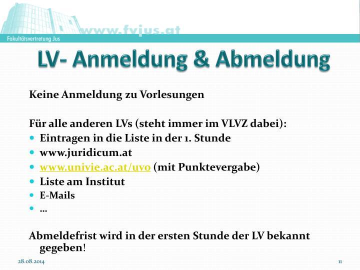 LV- Anmeldung & Abmeldung