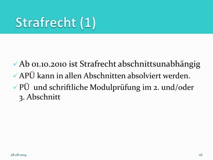 Strafrecht (1)