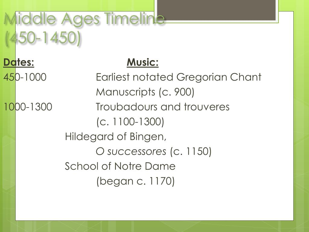 PPT - Middle Ages Timeline (450-1450) PowerPoint