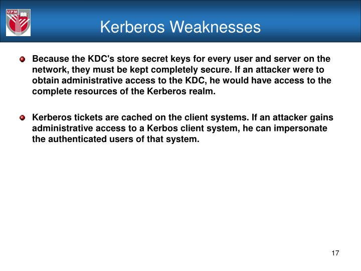 Kerberos Weaknesses
