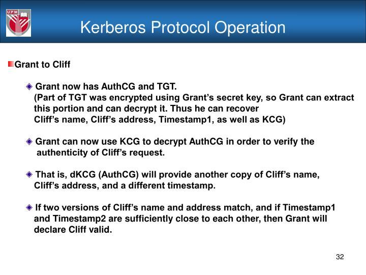 Kerberos Protocol Operation