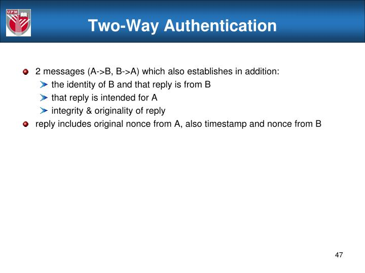 Two-Way Authentication
