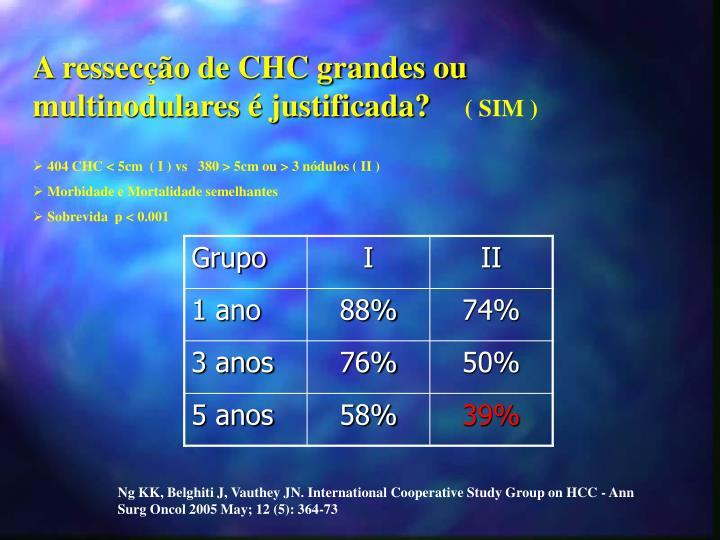A ressecção de CHC grandes ou multinodulares é justificada?