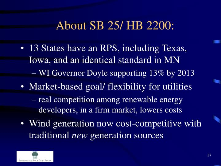About SB 25/ HB 2200:
