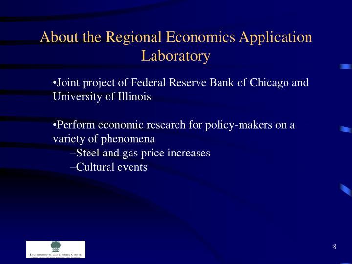 About the Regional Economics Application Laboratory