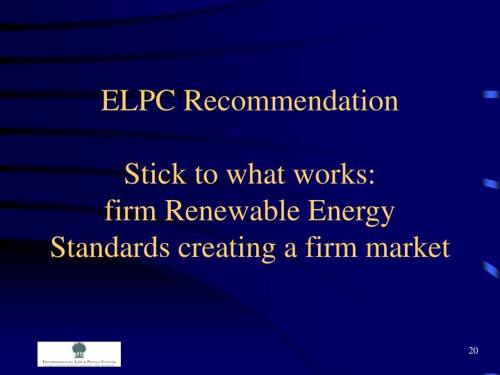 ELPC Recommendation
