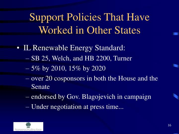Support Policies That Have Worked in Other States