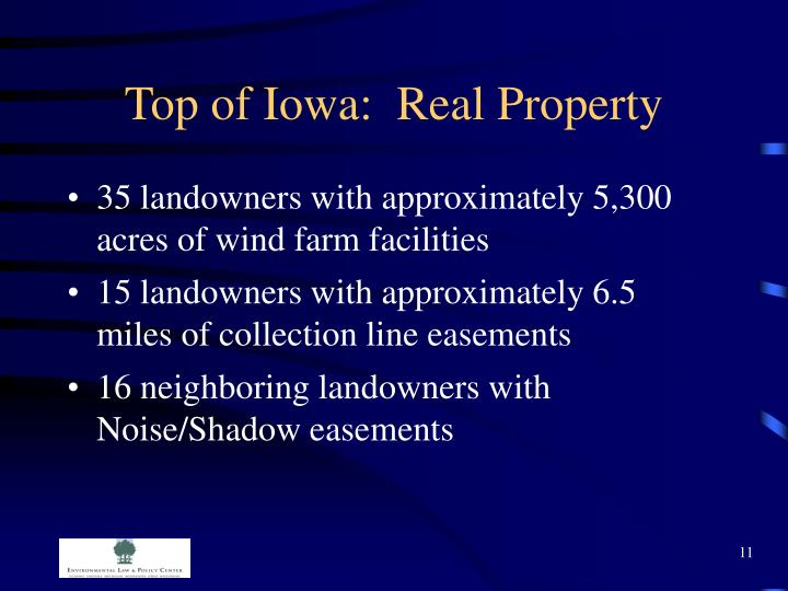 Top of Iowa:  Real Property