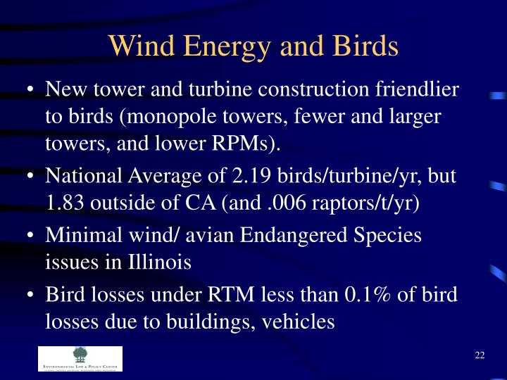 Wind Energy and Birds