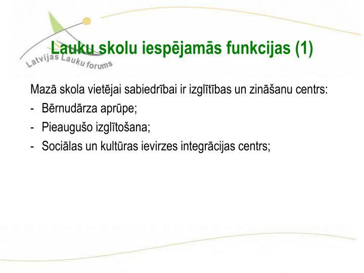 Lauku skolu iespējamās funkcijas (1)
