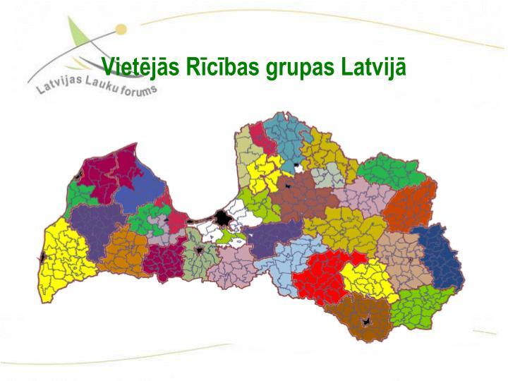 Vietējās Rīcības grupas Latvijā