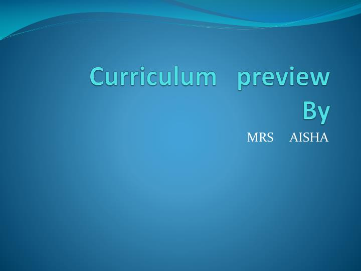 curriculum preview by n.
