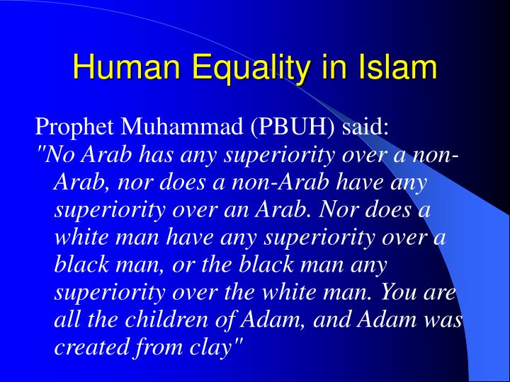 Human Equality in Islam