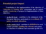 potential project impact