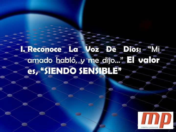 Reconoce La Voz De Dios: