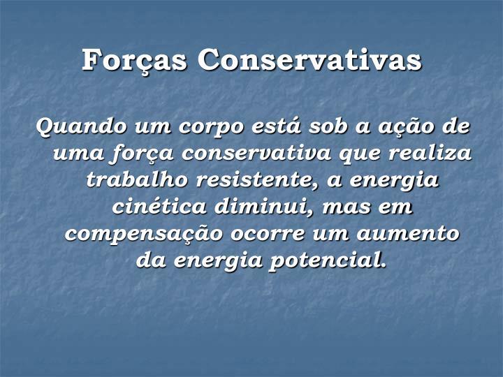 Forças Conservativas