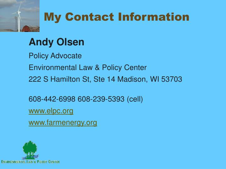 My Contact Information
