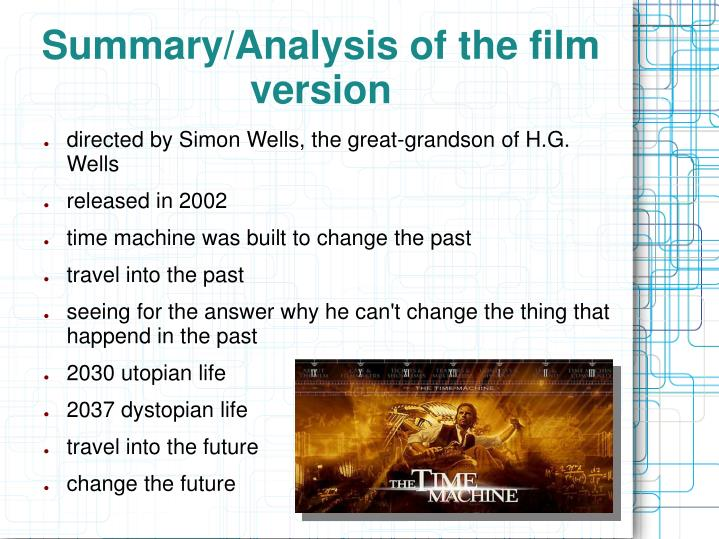 Summary analysis of the film version