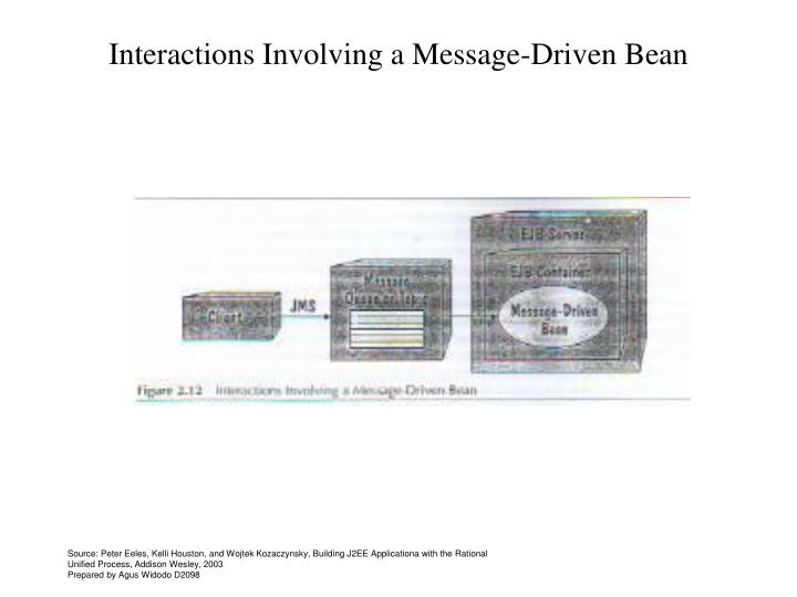 Interactions Involving a Message-Driven Bean