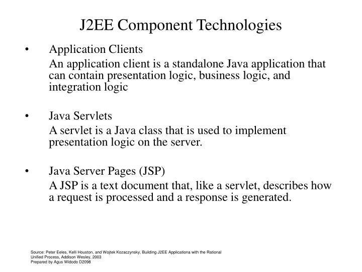 J2EE Component Technologies