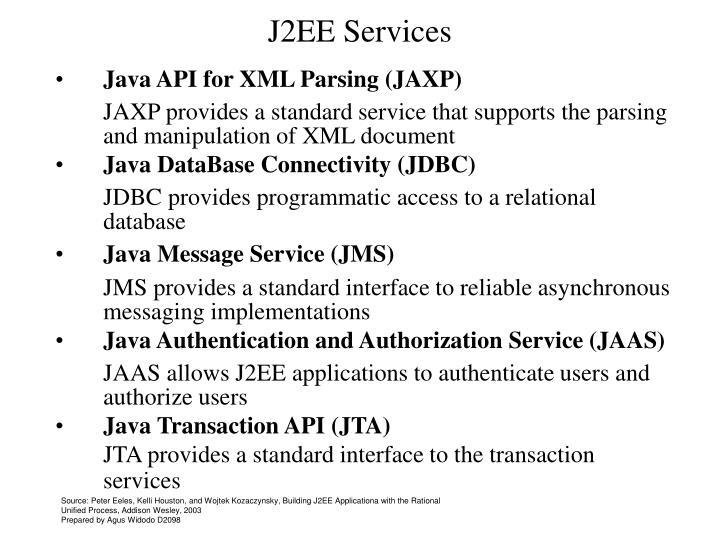 J2EE Services