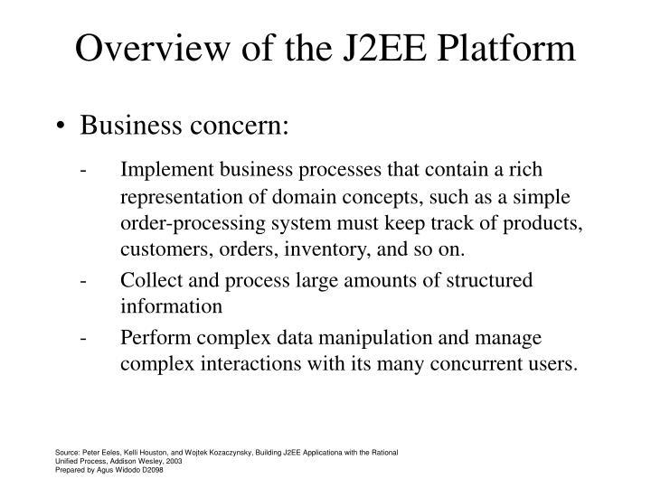Overview of the j2ee platform1