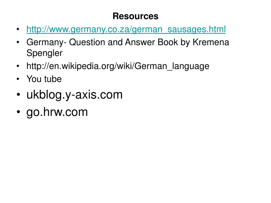 PPT - Welcome to Germany PowerPoint Presentation, free