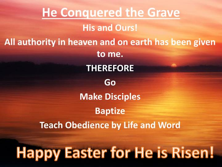 He Conquered the Grave