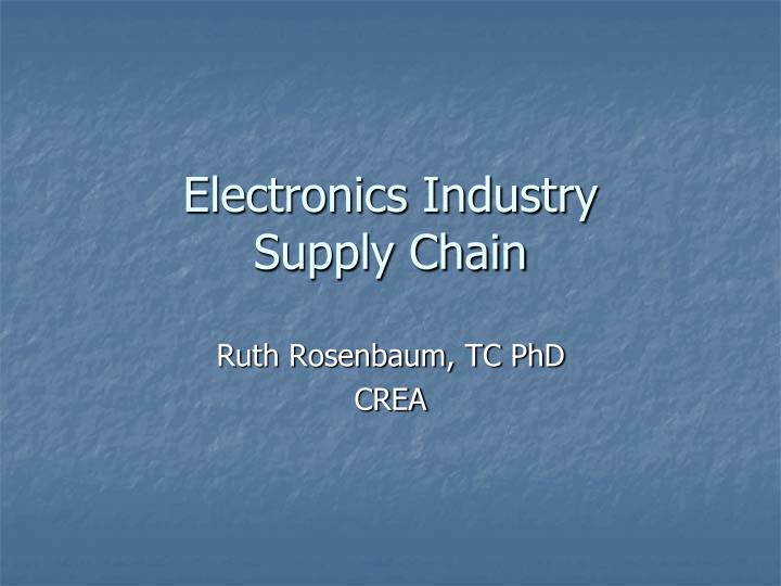 electronics industry supply chain n.