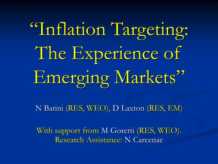 inflation targating Constant-interest-rate projections and its indicator properties: this paper propose indicator variables for the implementation of monetary policy in an inflation targeting regime.