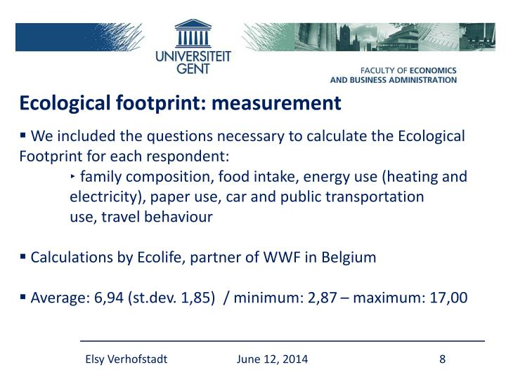 Ecological footprint: measurement