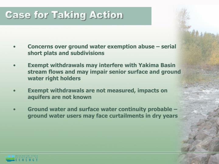 Case for Taking Action