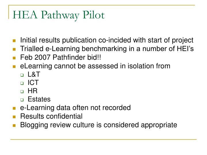 Hea pathway pilot