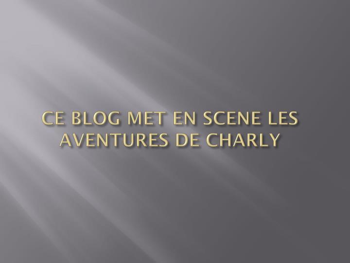 Ce blog met en scene les aventures de charly