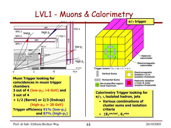 LVL1 - Muons & Calorimetry