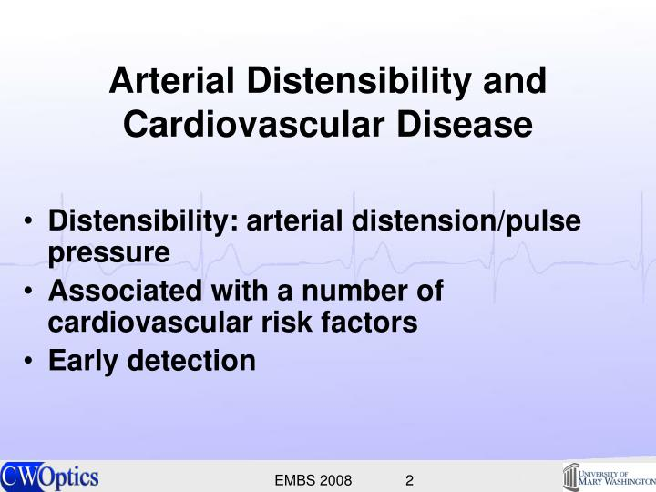 Arterial distensibility and cardiovascular disease