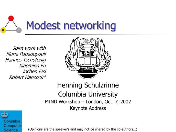 modest networking n.