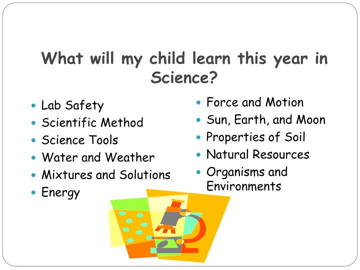 What will my child learn this year in Science?